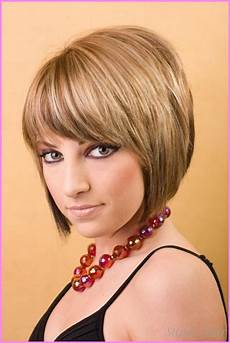 medium bob haircut with bangs star styles stylesstar com