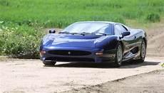 this fiery jaguar xj220 burnout carhoots