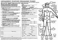 measuring forms ocean drysuits