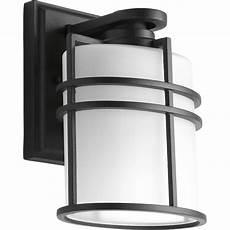 hton bay 1 light black dusk to dawn outdoor wall lantern bpp1611 blk the home depot