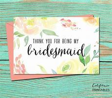 thank you for being my bridesmaid card template thank you for being my bridesmaid printable card wedding