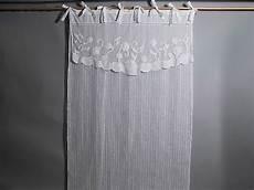 rideau blanc coton