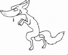 hungriger wolf ausmalbild malvorlage comics