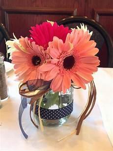 wedding decoration ideas with gerber daisies gerbera jar centerpieces wedding
