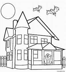 printable haunted house coloring pages for