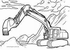 coloring page excavator vehicles