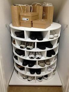 Schuhregal Selbst Bauen - diy lazy susan shoe storage the owner builder network