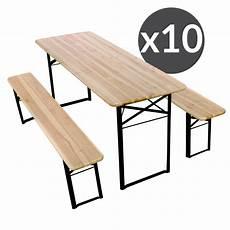 set brasserie table banc bois pro