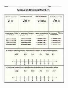 irrational numbers worksheet 8 ns 1 8 ns 2 by kara ekstrom tpt