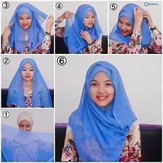 Kumpulan Contoh Pemakaian Jilbab Segi Empat Terbaru Cara