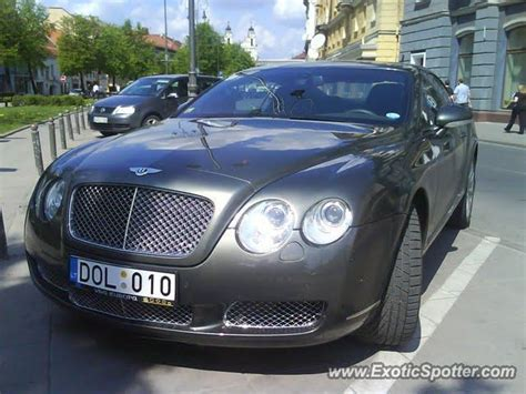 Bentley Continental Spotted In Vilnius, Lithuania On 10/10