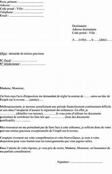 Lettre Type Remise Gracieuse Impot