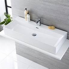lavandini bagno sospesi lavabo bagno sospeso rettangolare in ceramica 1000x420mm