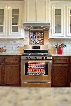 kitchen design with talavera tile and travertine