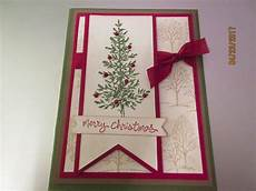stin up handmade christmas greeting card merry christmas tree in green ebay