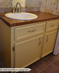 diy bathroom countertop ideas bathroom makeover day 5 the finished vanity before after addicted 2 decorating 174