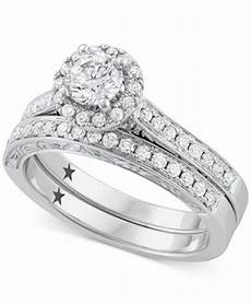 macy s star signature diamond bridal 1 ct t w in 14k white gold rings jewelry