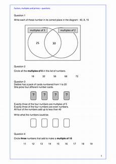 maths ks2 ks3 or gcse revision factors multiples and prime numbers full lesson plan by