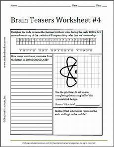 riddle worksheets high school 10914 brain teasers worksheet 4 free to print grades 3 and up k 12 education and learning