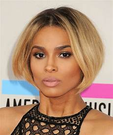 ciara short straight dark blonde bob haircut with light
