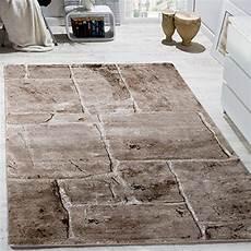teppich steinoptik designer teppich modern trendig meliert steinoptik mauer