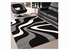 tapis tendance pour la chambre nodage noir gris blanc