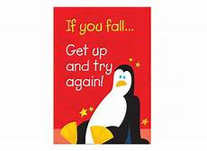 if you fall get up and try again motivational chart