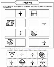 fraction worksheets beginner 3853 just an easy cut and glue activity for reviewing basic fractions math