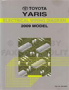 2009 toyota yaris wiring diagram manual original