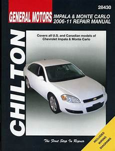 chilton car manuals free download 2005 chevrolet monte carlo electronic valve timing chevy impala chevrolet monte carlo repair shop manual 2006 2011