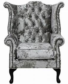 chesterfield armchair wing chair lustro argent
