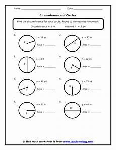 circumference of a circle worksheets 7th grade standard met circumference school