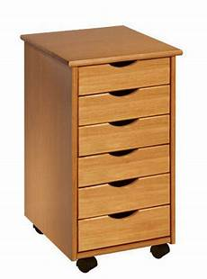 rolling office cart 6 drawers crafts solid wood sewing