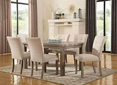 sanders reclaimed grey 5 pc 60 quot dining w weathered faux finish