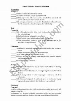 class activity for argumentative essay esl worksheet by erin0129