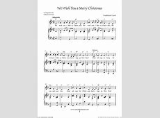 We Wish You A Merry Christmas Piano Sheet Music Pdf-