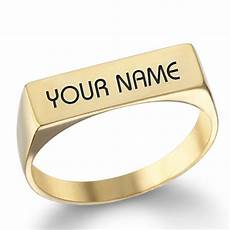 write name on gold engagement ring for groom