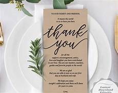 thank you place cards template reception place setting card wedding thank you card
