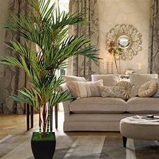 decorating with artificial palms and branches