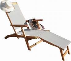 chilienne bois pas cher 62672 chaise longue chilienne avec repose pieds design en image