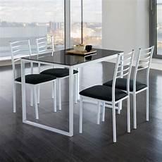 table de cuisine en verre 66245 table cuisine avec chaise verre noir achat vente table cuisine avec chaise verre noir pas