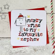merry christmas to my favourite niece nephew card by parsy card co notonthehighstreet com