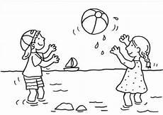 Malvorlagen Kostenlos Ausdrucken Spielen Kostenlose Malvorlage Sommer Kinder Spielen Wasserball
