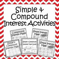 compound probability worksheets 8th grade 6002 simple and compound interest activities bundle 5 mazes and 1 set of task cards consumer math