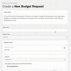 request a new budget the orgsync help desk