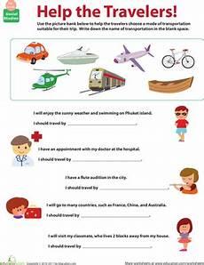 transportation worksheets for middle school 15201 all about transportation which mode worksheet education