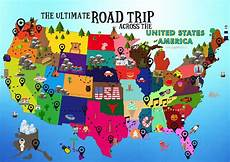 the ultimate road trip map of things to do in the usa road trip map road trip usa us road trip