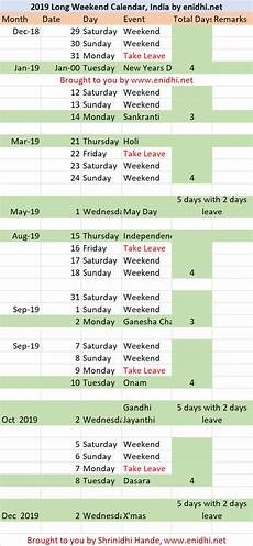 2019 long weekend calendar india plan your trips now enidhi india travel blog