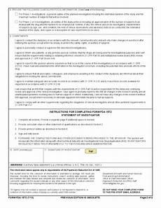 form fda 1572 statement of investigator free download