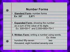 forms of numbers number forms